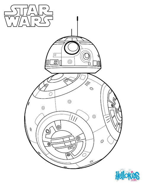 Bb  The Force Awakens Coloring Page