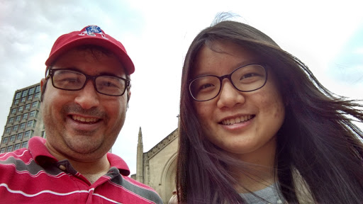 A bonus of going back to the same campus is running into the same students and forming a relationship with them! I was so glad to run into my friend Weiwen while evangelizing at Boston University! I first met her a year and a half ago while ministering at BU. She had just come to the United States from China. She and I have stayed in touch ever since and I have been able to share the gospel with her a number of times. I gave her a Bible in Mandarin. Please pray that Weiwen receives Jesus as her Savior soon. If you want to read about how we met, it's at: http://luke-15.org/2013/10/reaching-two-amazing-chinese-students-in-boston/