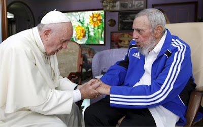 Poor Francis laments the death of fellow Jesuit Fidel Castro