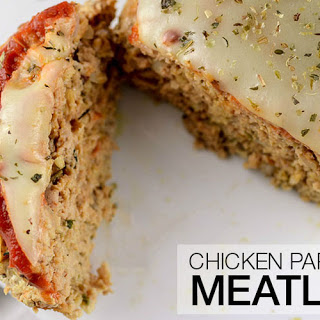Healthy High Protein Chicken Parmesan Meatloaf.