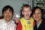 Joshua with Teacher Gao and Teacher Little Gao