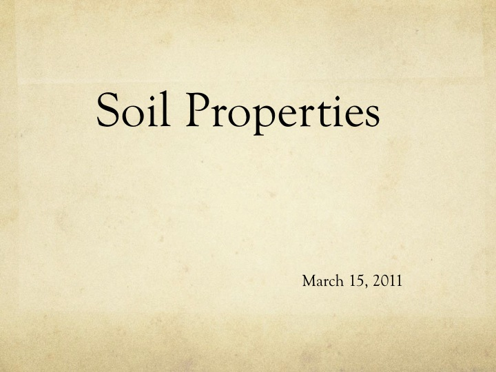 6th grade science soil notes powerpoint for Soil 6th grade science
