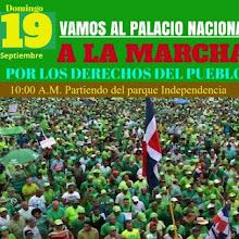 """Marcha al Palacio """"va"""" el próximo 19 de septiembre"""
