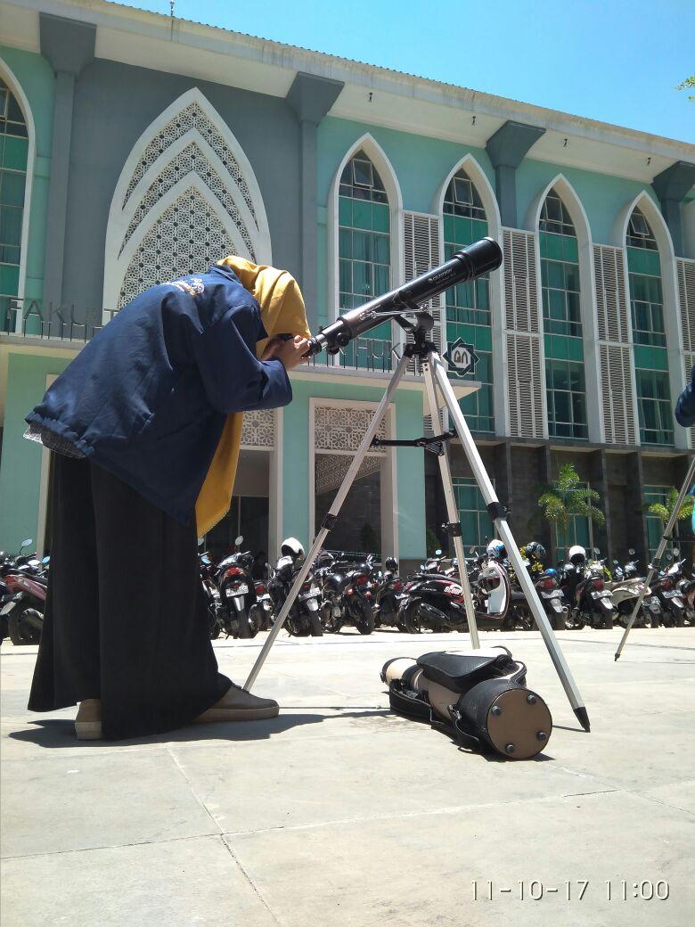 observasi matahari dihalaman kampus UINSA Surabaya