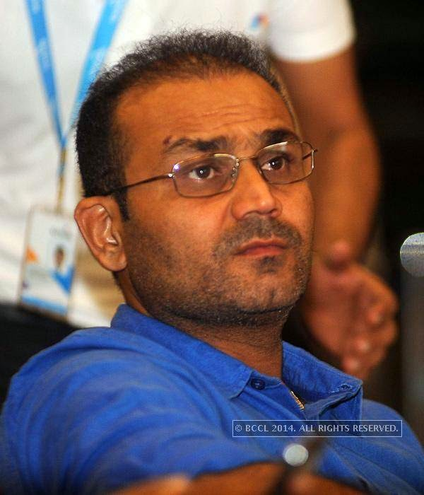 Virender Sehwag during the UNICEF event.