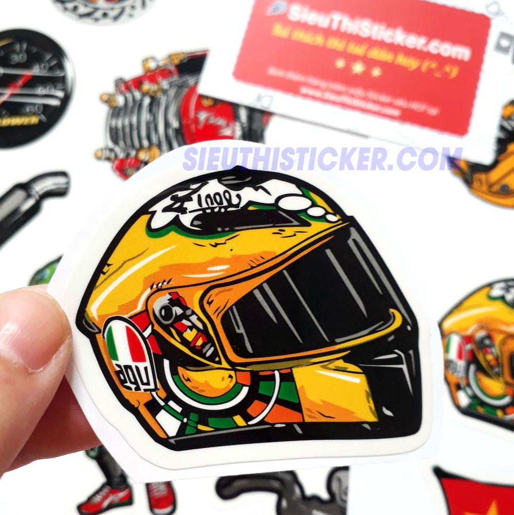 tem nhựa chống thấm nước dán trang trí xe máy