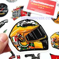tem nhựa chống nước dán trang trí xe máy