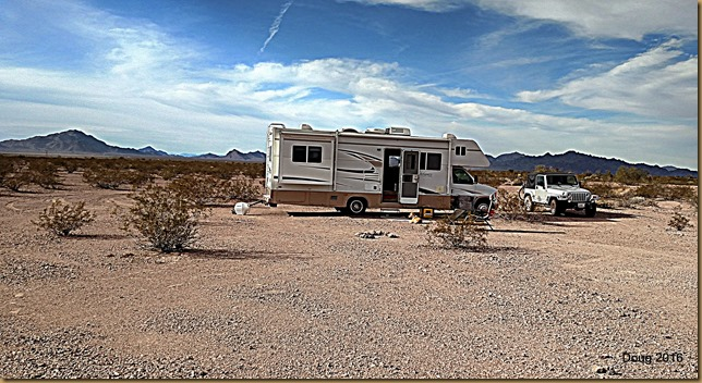 Campsite in Kofa Mountains