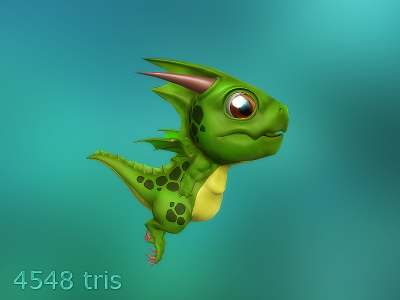 Lowpoly Toon Dragon and more - 50% off 09