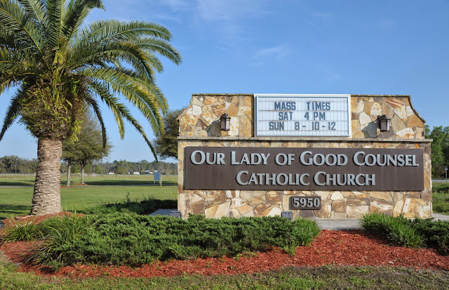 """""""Welcome to the faith community of Our Lady of Good Counsel; Gospel living in the Catholic tradition."""""""