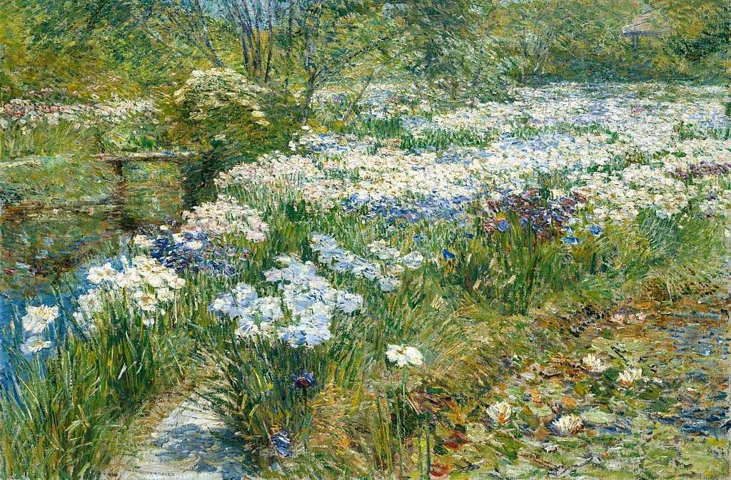 Childe Hassam - The Water Garden, c. 1909