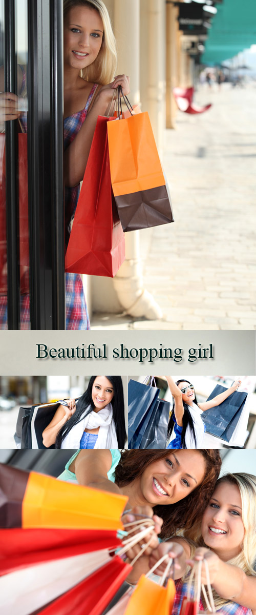 Stock Photo: Beautiful shopping girl 4