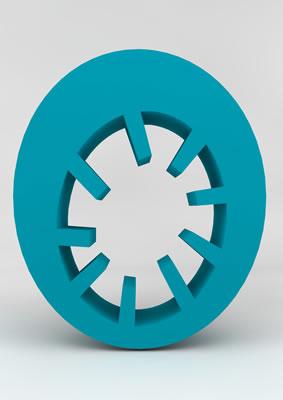 lettre 3D homme joker turquoise - O - images libres de droit