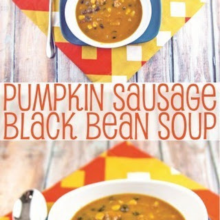 Pumpkin, Sausage, and Black Bean Soup