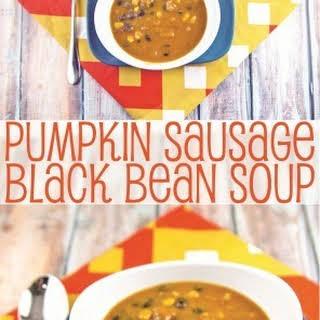 Pumpkin, Sausage, and Black Bean Soup.