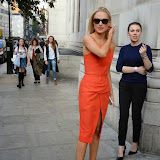 WWW.ENTSIMAGES.COM -   Kimberley Garner   leaving    The Design Collective for Evans at The Freemasons Hall, LondonSeptember 16th 2014Show hosted by Arcadia Group owner Sir Philip Green as plus size retailer Evans makes its debut on the London Fashion Week schedule.                                                   Photo Mobis Photos/OIC 0203 174 1069