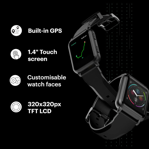 Noise ColorFit NAV Smart Watch with Built-in GPS and High Resolution Display