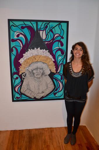 Artist Aline Herrera, Galeria Despacho. From Go Eat Give combines travel, food, and volunteering
