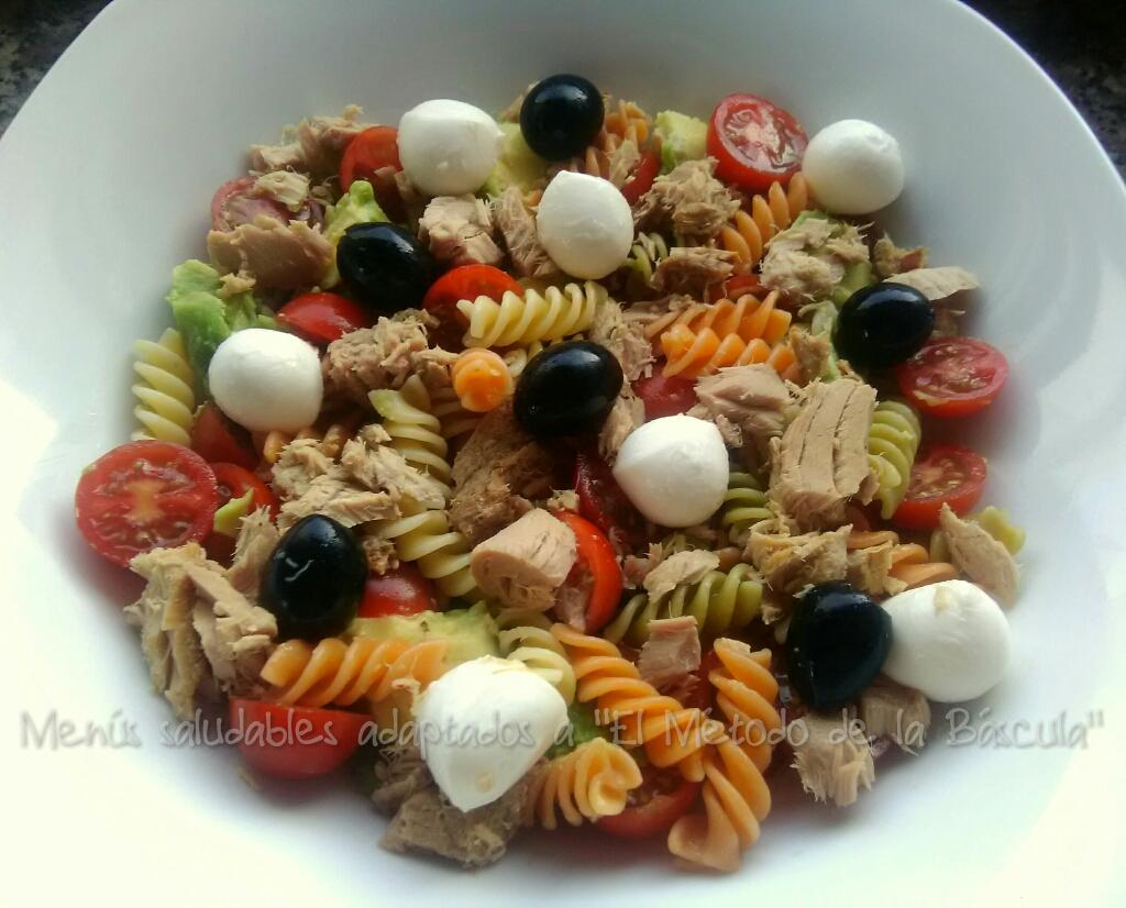 Ensalada de pasta con mozzarella - Ensalada fresca de pasta ...