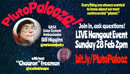 Let's Talk Pluto! Hangout 2PM This Sunday with Aaron Freeman