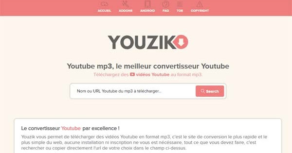 Youzik Pour Telecharger Des Mp3 A Partir Des Video Youtube Faux