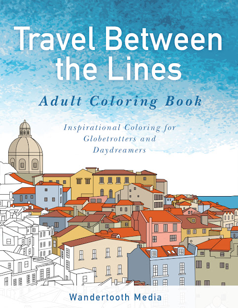 Travel Between The Lines The Original Travel Between The Lines Adult  Coloring Book