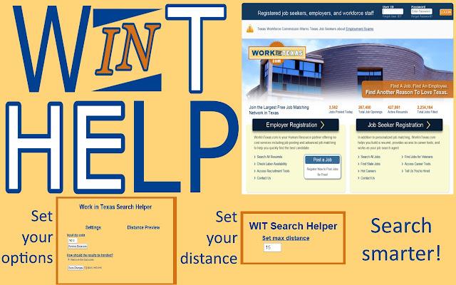 Work in Texas Search Helper