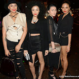 WWW.ENTSIMAGES.COM -   Asami Zdrenka, Shereen Cutkelvin, Amira McCarthy and Jess Plummer of Neon Jungle    arriving at     Hairfinity - launch party at Il Bottaccio, London November 8th 2014Louisiana based hair and beauty brand Hairfinity celebrates its launch in the UK                                                    Photo Mobis Photos/OIC 0203 174 1069