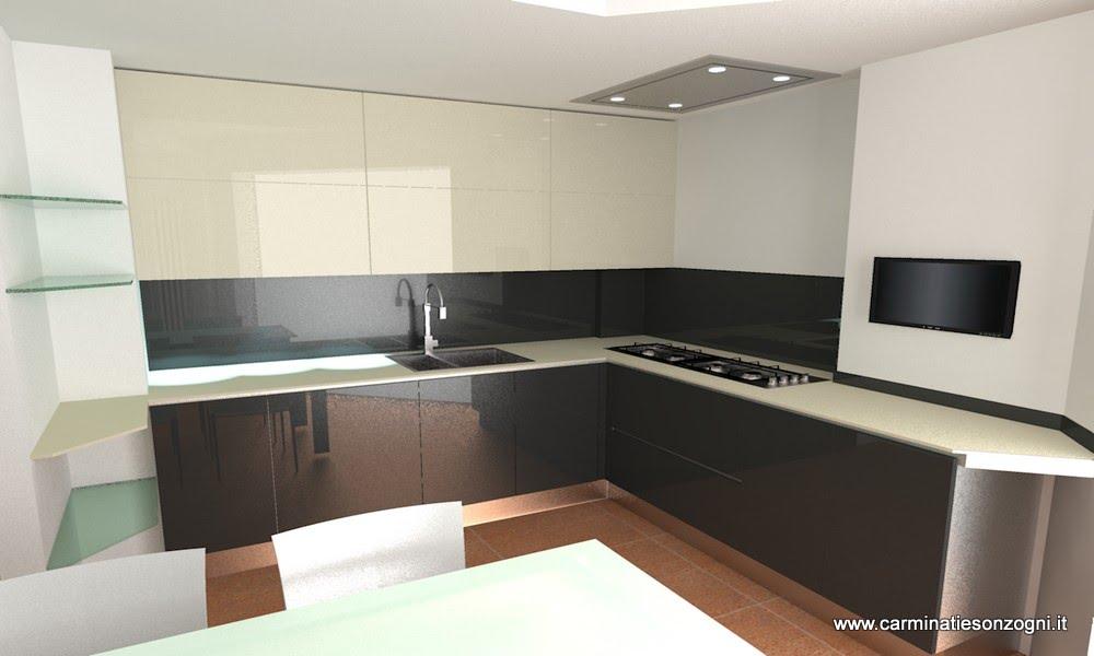 Progettazione arredamento con rendering 3d carminati e - Cucine con vetrate ...
