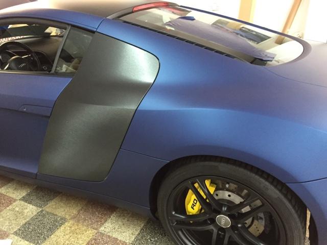 Audi R8 Matt Metallic Blue Wrap Car Wrap London