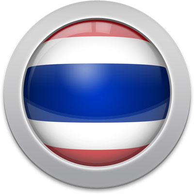 Thai flag icon with a silver frame