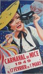 Carnaval de Nice affiche 1949