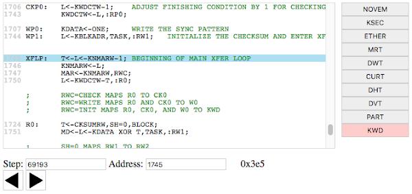 Xerox Alto microcode trace viewer.