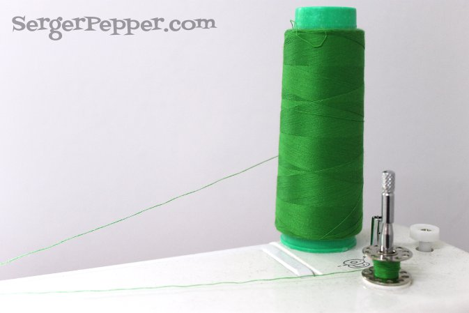 Serger Pepper - Sewing Denim like a Pro - two threads instead of a heavy duty