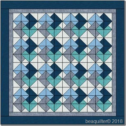 cardtrick6inqube9inblocks baby quilt45x45