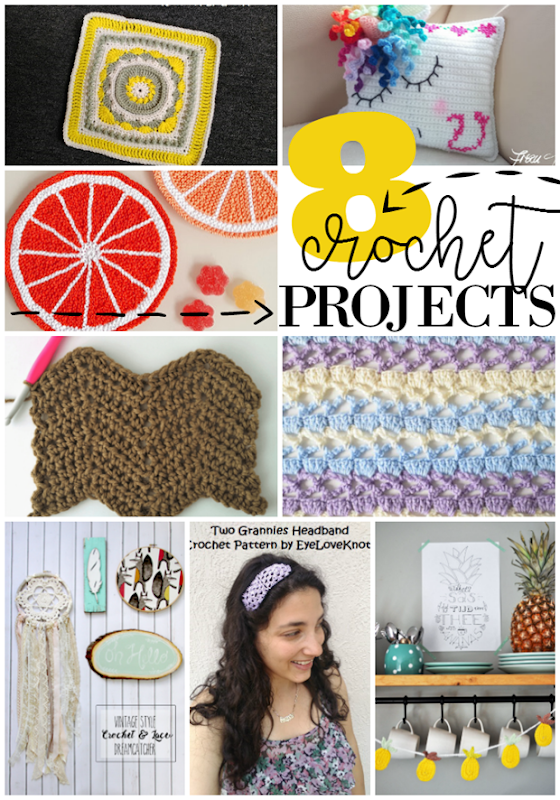 8 Crochet Projects at GingerSnapCrafts.com #crochet