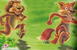 El lobo orgulloso de su sombra y el león