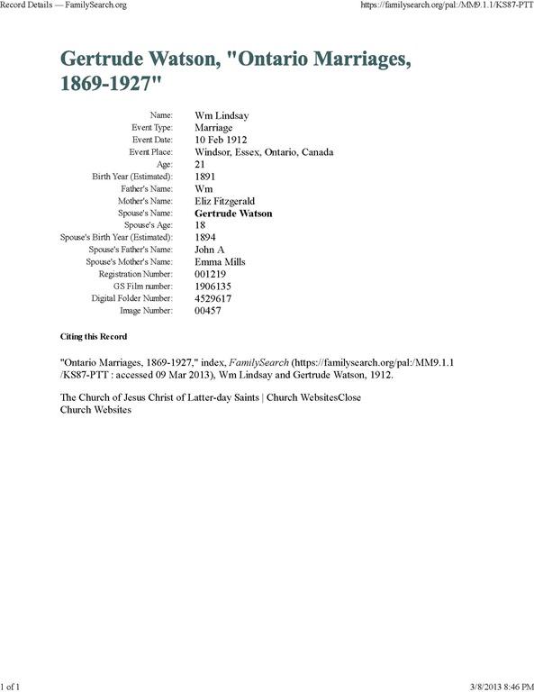 [LINDSAY_William+marriage+to+Gertrude+WATSON_10+Feb+1912_WindsorEssexOntarioCanada%5B12%5D]