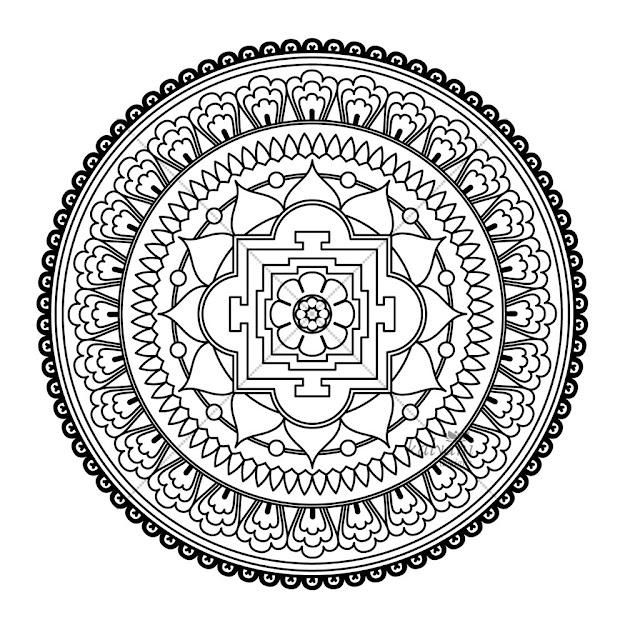 Flower Mandala Coloring Pages   Flowermandalacoloringpagesmandalaabstractcolouringpagespage