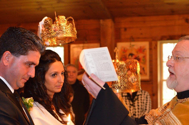 The betrothal of the bridegroom to the bride