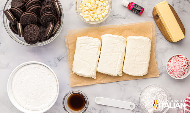 Ingredients peppermint cheesecake