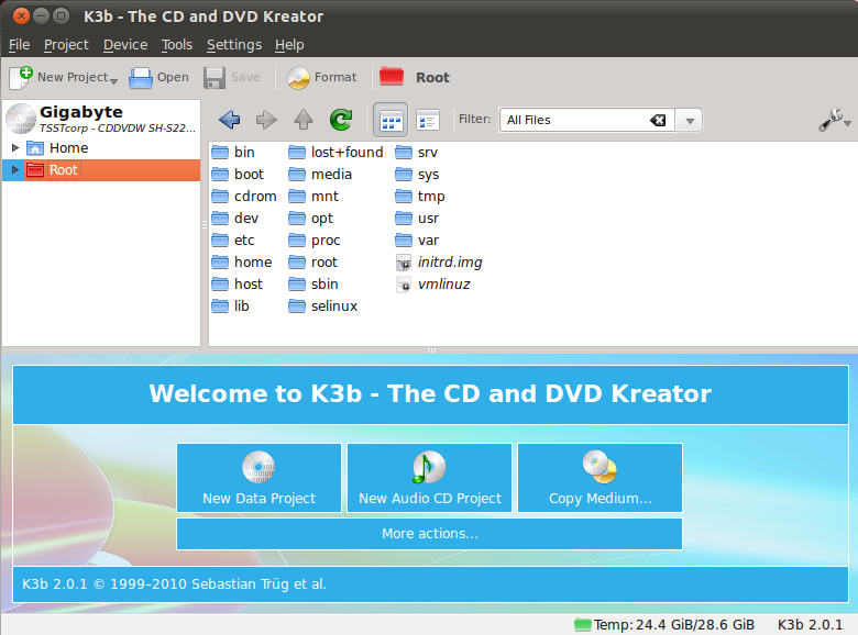 Install K3b - CD / DVD Burning Software - On Ubuntu 10 04