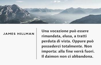 Hillman, il daimon, la vocazione