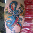 blue fire - Dragon Tattoo