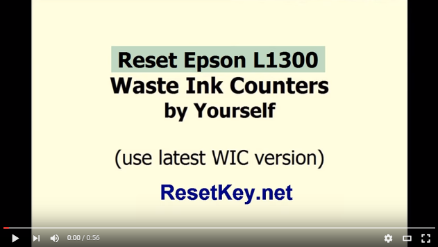 How to reset Epson L353 with WIC Reset Utility here