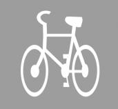 P-23  rower  Znak ten oznacza drogę lub jej część (pas ruchu) przeznaczoną dla ruchu rowerów jednośladowych.