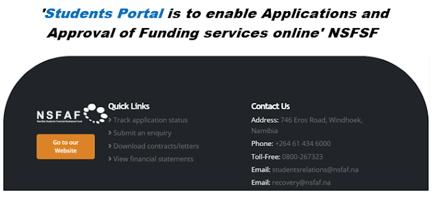 NSFAF students login portal