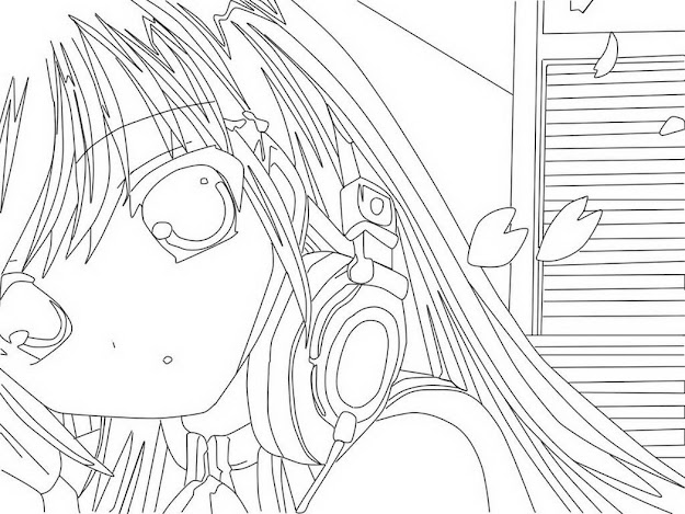 Anime Coloring Pages Printable For   Coloring Pages For Free  Throughout Anime Coloring Pages