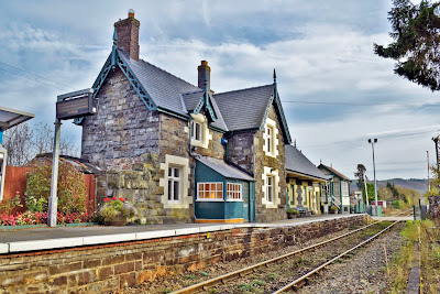 The Station Master's House at Caersws Railway Station, Caersws, Powys, Mid Wales