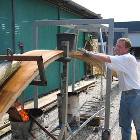 Het eerste Vlakdeel word krom gebrand.